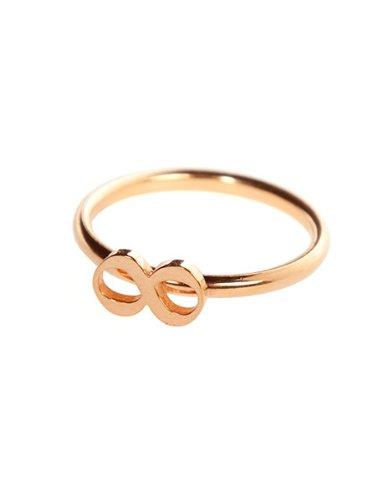 Chaingang, Damen Ring Sterlingsilber 24 Karat rosevergoldet Infinity