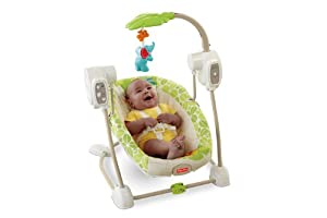Fisher-Price SpaceSaver Swing and Seat, Rainforest Friends