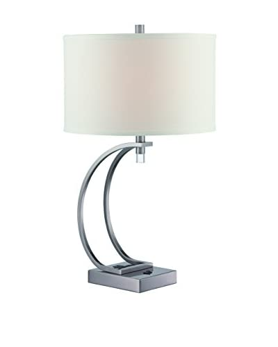 Lite Source Curved Table Lamp, Gun Metal