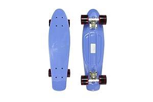 Stereo Vinyl Cruiser Plastic Complete Skateboard (Blue, 22.5x6-Inch)