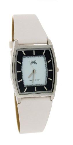 Q&Q Unisex Slim Elegant Leather Band Watch #Q312-311Y