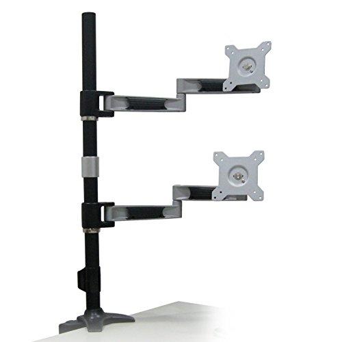 オウルテック 水平駆動可能多関節式液晶モニターアーム垂直2台用デスクタイプ シルバー OWL-TC212