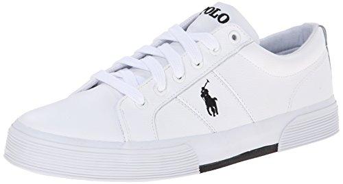 Polo Ralph Lauren Men's Felixstow Fashion Sneaker, White, 11 D US