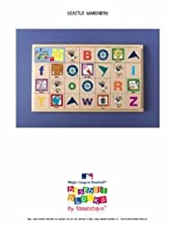 Seattle Mariners Baby/Childrens Team Mascot Alphabet Blocks MLB Baseball