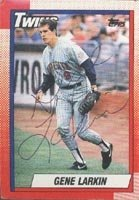 Gene Larkin Minnesota Twins 1990 Topps Autographed Hand Signed Trading Card. by Hall+of+Fame+Memorabilia