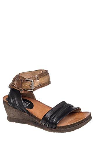 Stefania Ankle Strap Wedge Sandal