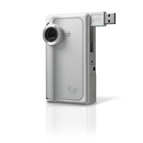 Flip Video Camcorder: 60-Minutes (White)
