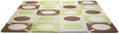 "Purchase Skip Hop 20 Piece 70""x56"" PlaySpot Floor Mat, Green/Brown"