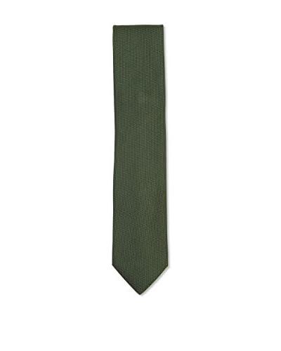 Ermenegildo Zegna Men's Patterned Silk Tie, Green