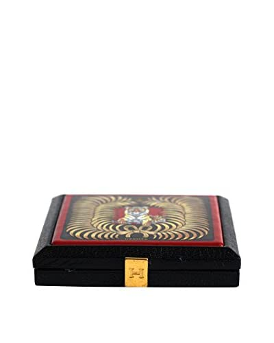 Hermès Extremely Rare Powder Box, Black/Red/Yellow