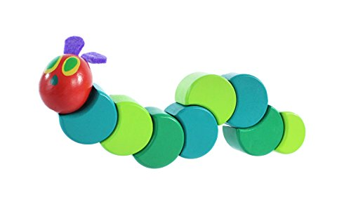 World of Eric Carle, The Very Hungry Caterpillar Wood Grasp and Twist Toy by Kids Preferred