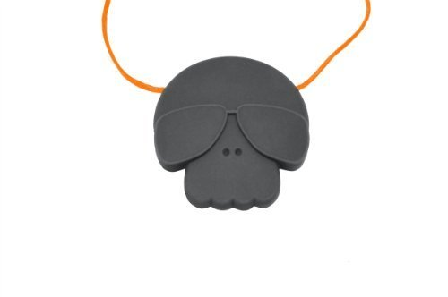 Jellystone Skull Pendant Teether - Stormy Grey