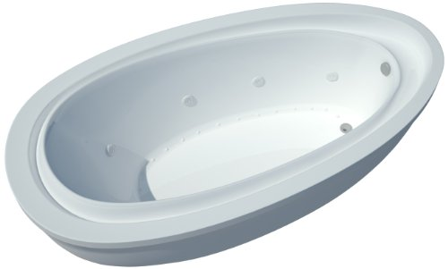 Sea Spa Tubs S3871Bd Tubs Breeze 38 By 71 By 20-Inch Rectangular Air And Whirlpool Water Jetted Bathtub, White