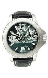 Christian Audigier Eternity Series Chains Of Love Black Dial Unisex Watch #ETE109
