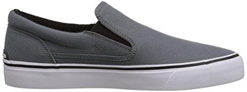 DC Men's Trase Slip-On TX Skate Shoe, Grey, 11 M US