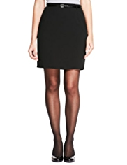 M&S Collection Belted Pencil Mini Skirt