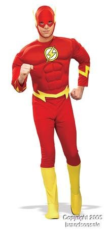 Adult Men's Flash Halloween Costume (Size: Medium)