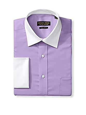 Donald J. Trump Signature Men's Cotton Dress Shirt with White Collar/French Cuff