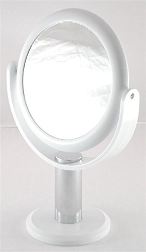 White Vanity With Mirror front-34156
