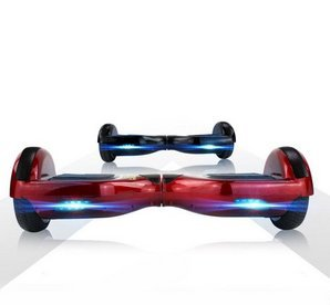 MonoRover Two Wheels Smart Self Balancing Scooters Drifting Board, Red