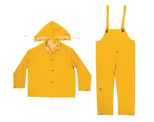CLC Rain Wear R1012x .35MM 3-Piece Rain Suit Yellow - 2XLarge