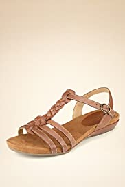 Footglove™ Original Leather Wide Fit Plait Gladiator Sandals