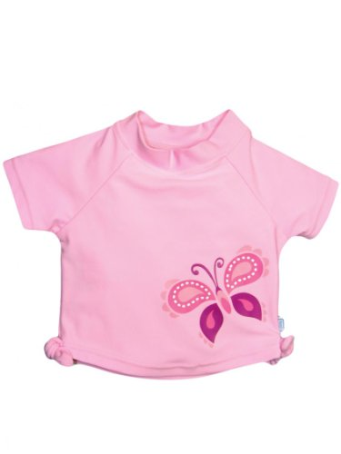 I Play Baby Girls' Tie Rashguard (Baby) - Light Pink - Large (18 Months) front-1009644