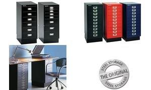 BISLEY-Schubladenschrank-A4-10-Schbe-silber-5020073703061