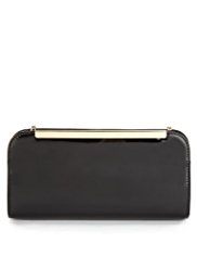 M&S Collection Patent Clutch Bag