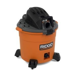 RIDGID 16-Gallon High Performance Wet/Dry Vac Vacum # WD1637. Professional Wet / Dry Vacs Cleaning Systems. Industry leading power and performance for your cleaning needs. + Special Buy! includes Bonus Car Nozzle.