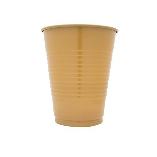 Creative Converting 600 Count Case Touch Of Color Plastic Cups, 16-Ounce, Glittering Gold