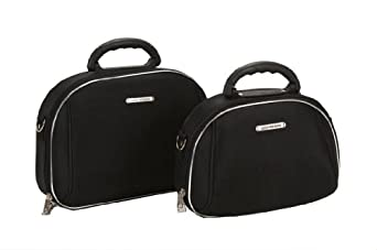 Amazon.com: Rockland Luggage Luca Vergani 2 Piece Cosmetic Set