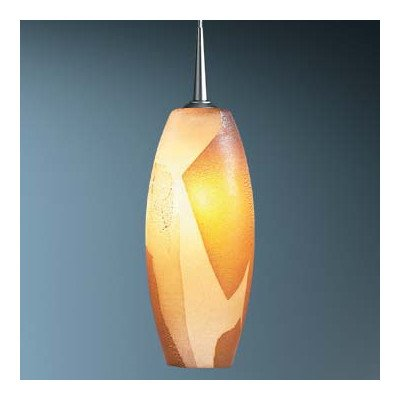 "Ciro 1 Light Monopoint Pendant With Canopy Finish: Bronze, Canopy/Bulb Type: 4"" Kiss Canopy/Led, Glass Color: White"