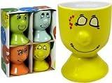 Ideen für Ostergeschenke Witzige Ostergeschenke - KI 4er Set Eierbecher funny face Porzellan