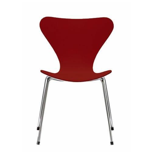 Fritz Hansen Serie 7 Stuhl dunkel rot / gefärbte Esche, höhe 44cm