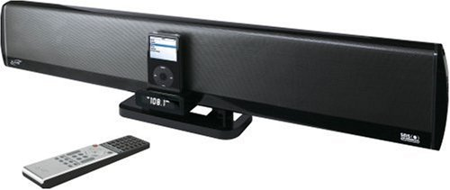 iLive IHT3817DT Studio Series iPod Speaker Dock with 2.1 Channel Sound System for iPod/Mini/Nano/Shuffle and Other Audio Players with Remote Control
