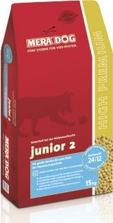 Mera Dog Junior Welpenfutter, Junior 2 grosse Rassen 15 kg