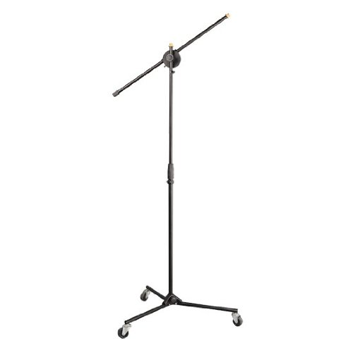 Pylepro Pmks22 Universal Rolling Wheels Tripod Microphone Stand With Adjustable Height And Extendable