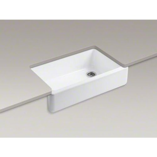 Sink With Apron : ... Self-Trimming Apron Front Single Basin Sink with Tall Apron, White