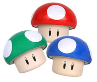 Super Mario Bros. Mushroom Tin w/ Sour Candies Set of 3