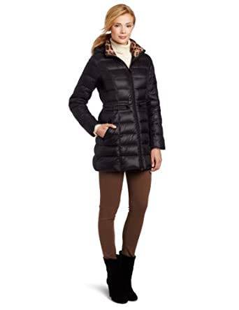Laundry Women's Lightweight Down Coat, Black, Small
