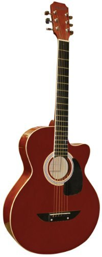 acoustic guitar tuner reviews compare main street guitars mas38tr 38 inch acoustic cutaway