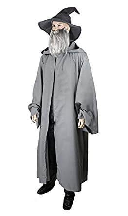Gandalf Robe Cloak Monk Wizard Costume Adult Gray