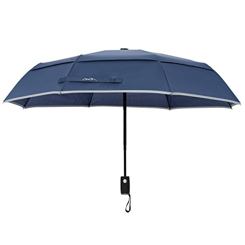 arcadia-outdoors-vented-double-canopy-wind-resistant-travel-umbrella-with-reflective-edge-navy-blue-