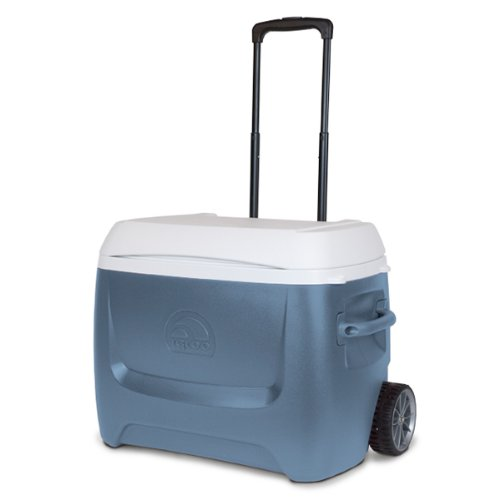 Igloo Island Breeze Maxcold 50 Quart Roller Cooler (Ice Blue, 27.5 x 16.75 x 19.063-Inch)