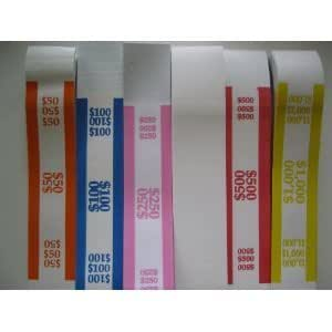 2500 assorted currency straps bands office products. Black Bedroom Furniture Sets. Home Design Ideas