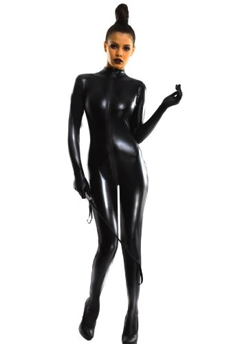 Amour-Sexy Lack Wetlook Catsuit Overall PVC Body Nachtkleidung Kostüm