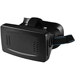 AGPtek 3D Virtual Reality Video Glasses Google Cardboard For Smart Phone iPhone 6 6Plus/iPhone 5S, Samsung Galaxy S3/S4/S5/S6, Note 2/3/4, HTC M9, LG G3 Android cellphone For 3.5 to 6 Smartphones