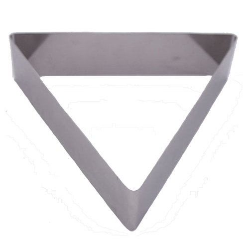 Fat Daddio's Stainless Steel Triangle Cake and Pastry Ring, 7 Inch x 2 Inch