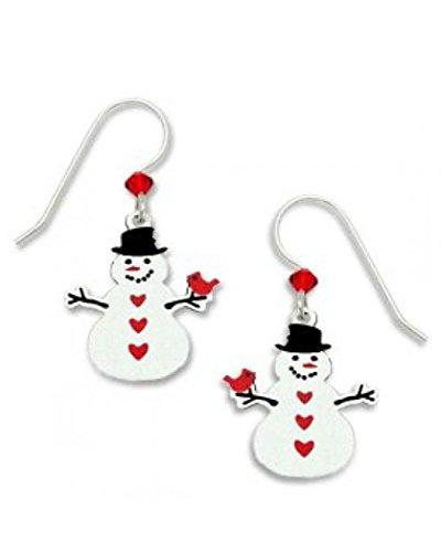 Snowman Christmas Earrings